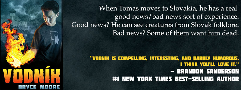 "Vodnik: When Tomas moves to Slovakia, he has a real good news/bad news sort of experience. Good news? He can see creatures from Slovak folklore. Bad news? Some of them want him dead. ""Vodnik is compelling, interesting, and darkly humorous. I think you'll love it."" - Brandon Sanderson #1 New York Times best-selling author"
